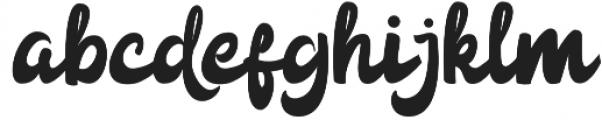 Anggada otf (400) Font LOWERCASE