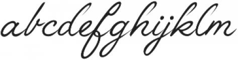 Anggrek Regular otf (400) Font LOWERCASE