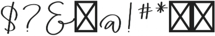AngieMakes Fandangle Bold otf (700) Font OTHER CHARS