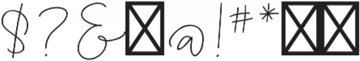 AngieMakes Fandangle otf (400) Font OTHER CHARS