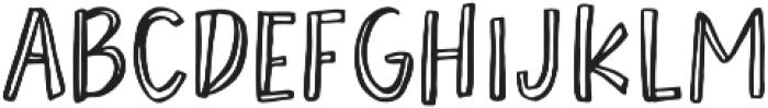 AngieMakes Okey Doke otf (400) Font LOWERCASE