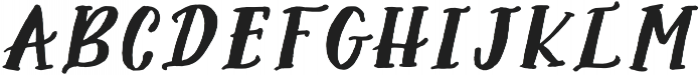 AngieMakes Seafair Italic otf (400) Font UPPERCASE