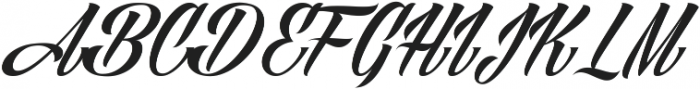 Angilla Tattoo ttf (400) Font UPPERCASE