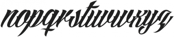 Angilla Tattoo ttf (400) Font LOWERCASE