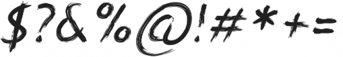 Angilliac Italic otf (400) Font OTHER CHARS