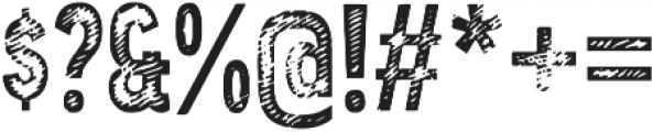 Angostura Wood otf (400) Font OTHER CHARS