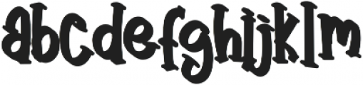 Angry&Hungry - Shadow otf (400) Font LOWERCASE