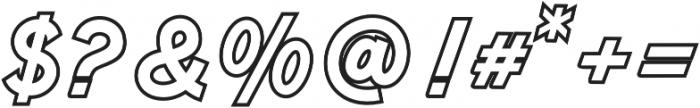 Anguine Outline otf (400) Font OTHER CHARS