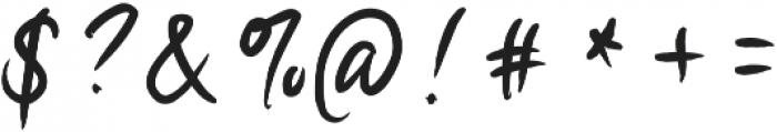 Anhinga ttf (400) Font OTHER CHARS