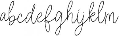 Anisaly otf (400) Font LOWERCASE