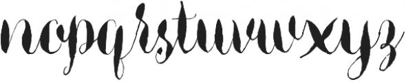 Aniston otf (400) Font LOWERCASE