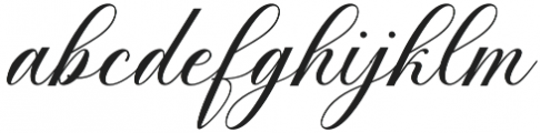Anitha otf (400) Font LOWERCASE