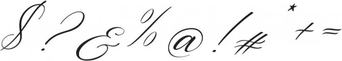 Aniyah Italic otf (400) Font OTHER CHARS