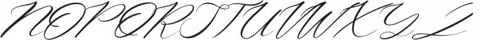 Aniyah Italic otf (400) Font UPPERCASE