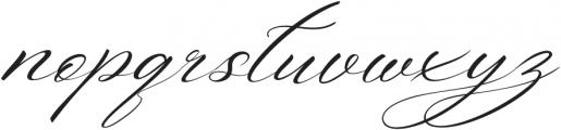 Aniyah Italic otf (400) Font LOWERCASE