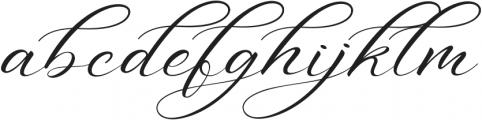 Aniyah otf (400) Font LOWERCASE