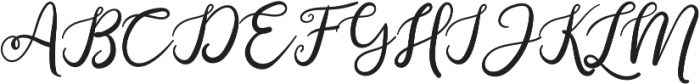 Anjellic otf (400) Font UPPERCASE