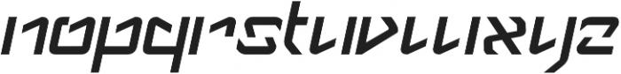Anklar Italic otf (400) Font LOWERCASE