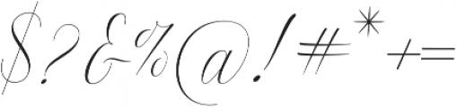 Anna Marrie Light Regular otf (300) Font OTHER CHARS