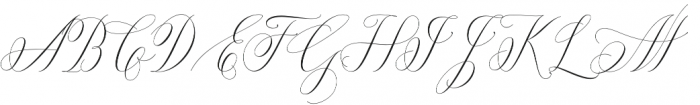 Anna Marrie Light Regular otf (300) Font UPPERCASE