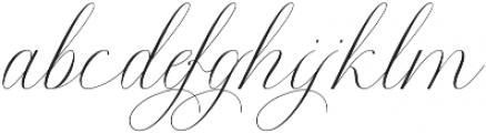 Anna Marrie Light Regular otf (300) Font LOWERCASE