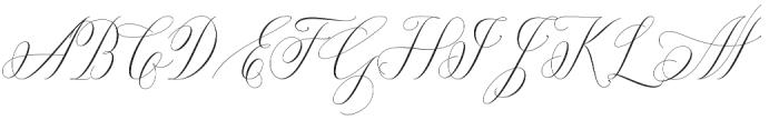 Anna Marrie Regular otf (400) Font UPPERCASE