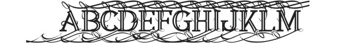 Annabel Bold Inline 1 otf (700) Font UPPERCASE