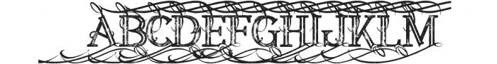 Annabel Bold Inline Grunge 1 otf (700) Font UPPERCASE