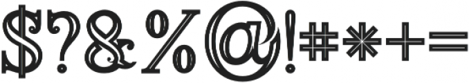 Annabel Bold Inline otf (700) Font OTHER CHARS