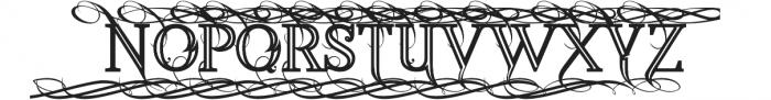 Annabel Bold Inline otf (700) Font UPPERCASE