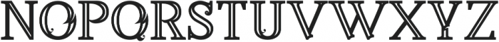 Annabel Bold Inline otf (700) Font LOWERCASE