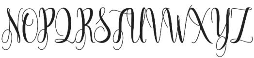 Annamelia otf (400) Font UPPERCASE