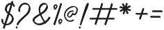 Anniversa 10 otf (400) Font OTHER CHARS