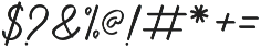 Anniversa Pro otf (400) Font OTHER CHARS
