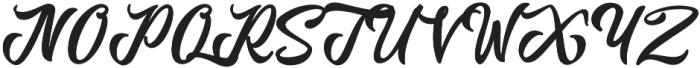 Anordighos Regular otf (400) Font UPPERCASE