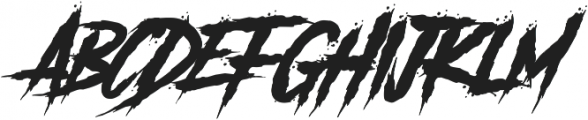 Another Danger Slanted otf (400) Font UPPERCASE