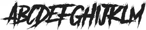 Another Danger otf (400) Font UPPERCASE