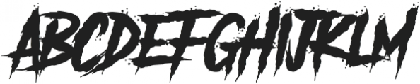 Another Danger otf (400) Font LOWERCASE