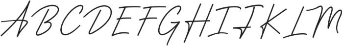 Anstery Script otf (400) Font UPPERCASE