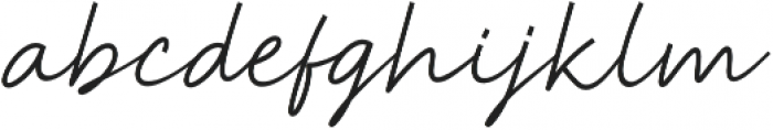 Anstery Script otf (400) Font LOWERCASE
