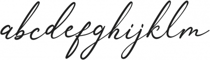 Anthoni Signature Bold otf (700) Font LOWERCASE