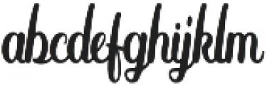 Anthony 2 Regular otf (400) Font LOWERCASE