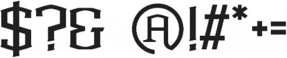 Anthony otf (400) Font OTHER CHARS