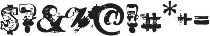 AntiRomantic OT Displaced otf (400) Font OTHER CHARS