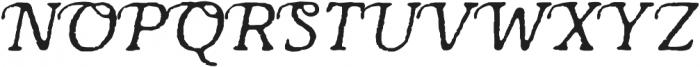 Antihistory Italic otf (400) Font UPPERCASE