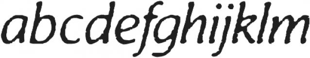 Antihistory Italic otf (400) Font LOWERCASE