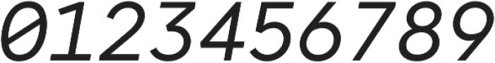 Antikor Mono News Italic otf (400) Font OTHER CHARS
