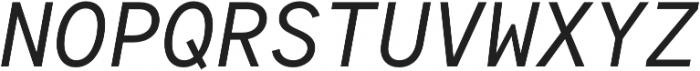 Antikor Mono News Italic otf (400) Font UPPERCASE