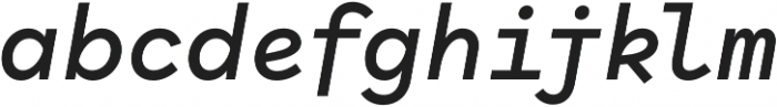 Antikor Text SemiBold Italic otf (600) Font LOWERCASE