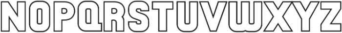 Antimony Outline otf (400) Font LOWERCASE